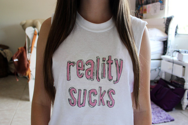 tank top reality sucks reality sucks tumblr tumblr girl
