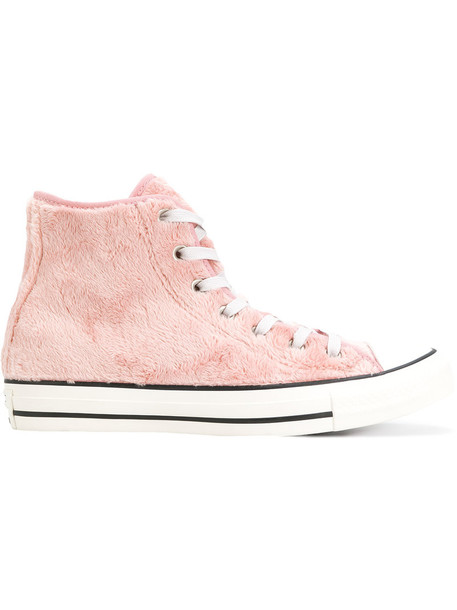 converse fur faux fur women sneakers purple pink shoes