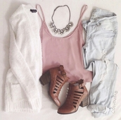 ankle booties.,cardigan,statement necklace,jewelry,silver necklace,fashion inspo,on point clothing,tumblr outfit,style,trendy,stylish,needtohave,shoes