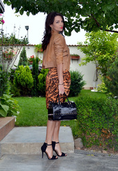 my silk fairytale,jacket,skirt,t-shirt,bag,shoes,jewels