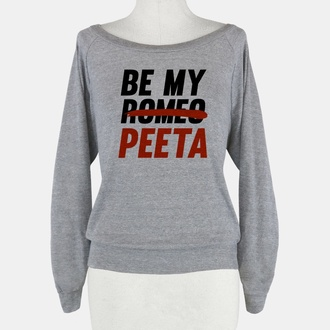 grey sweater peeta be mine
