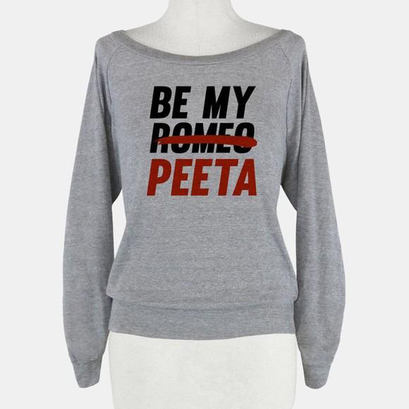 grey sweater peeta be mine