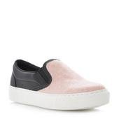 DUNE LADIES LAWRENCE - Monochrome Leather Pointed Toe Loafer - black white  | Dune Shoes Online