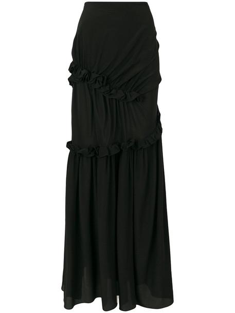 PREEN BY THORNTON BREGAZZI skirt women black silk