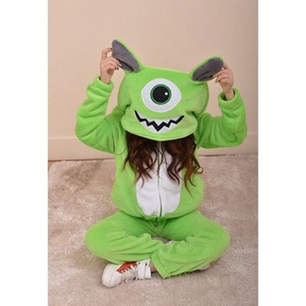 sunglasses sweatshirt onesie mike wazowski green