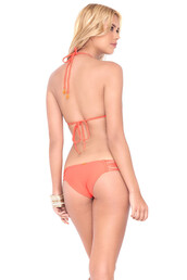 underwear,luli fama,bikini bottoms,cheeky,coral,print,swimwear