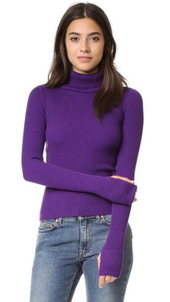 Jacquemus turtleneck purple sweater
