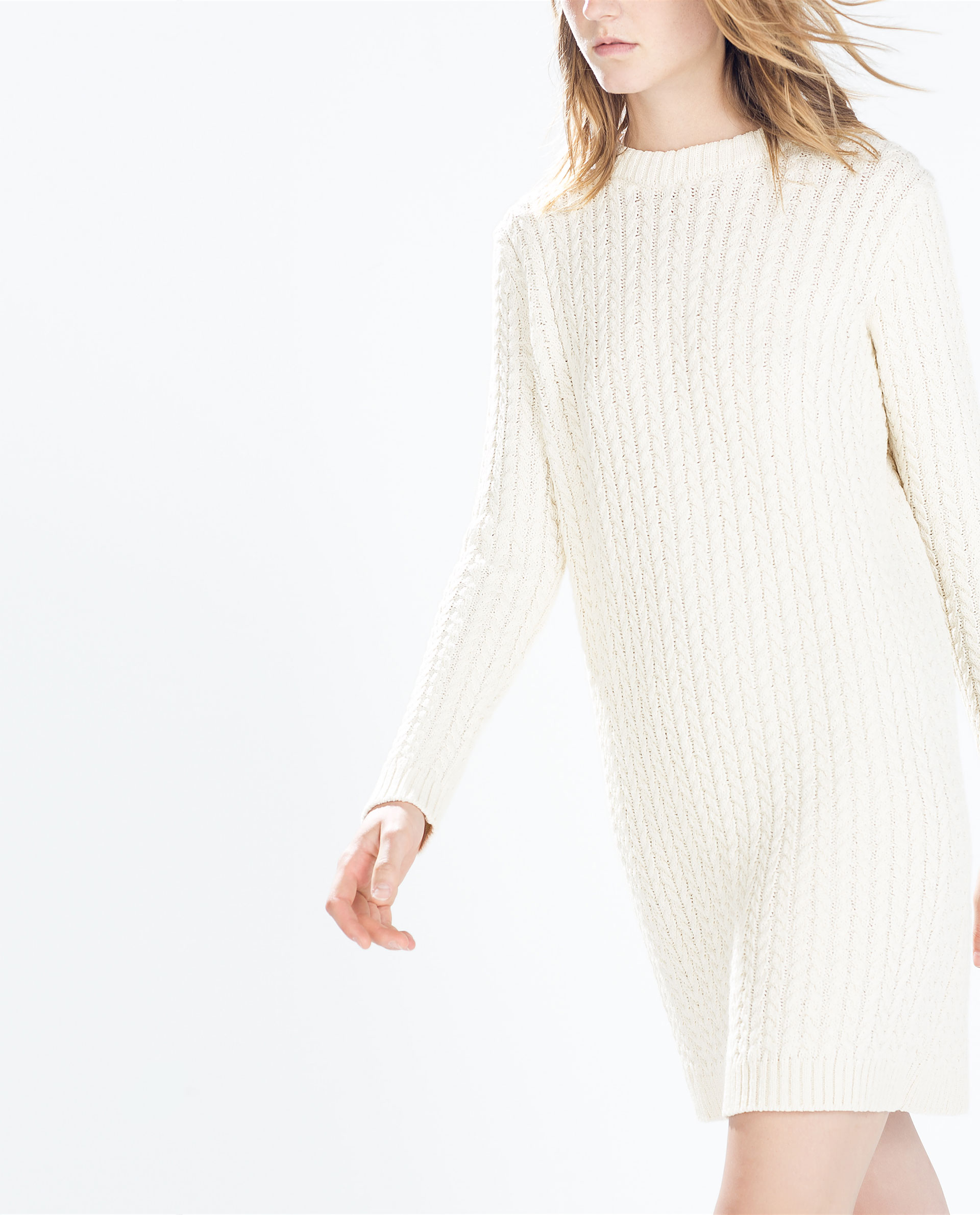 e75b9aa9 LONG - SLEEVED CABLE - KNIT DRESS - Dresses - WOMAN | ZARA United Kingdom