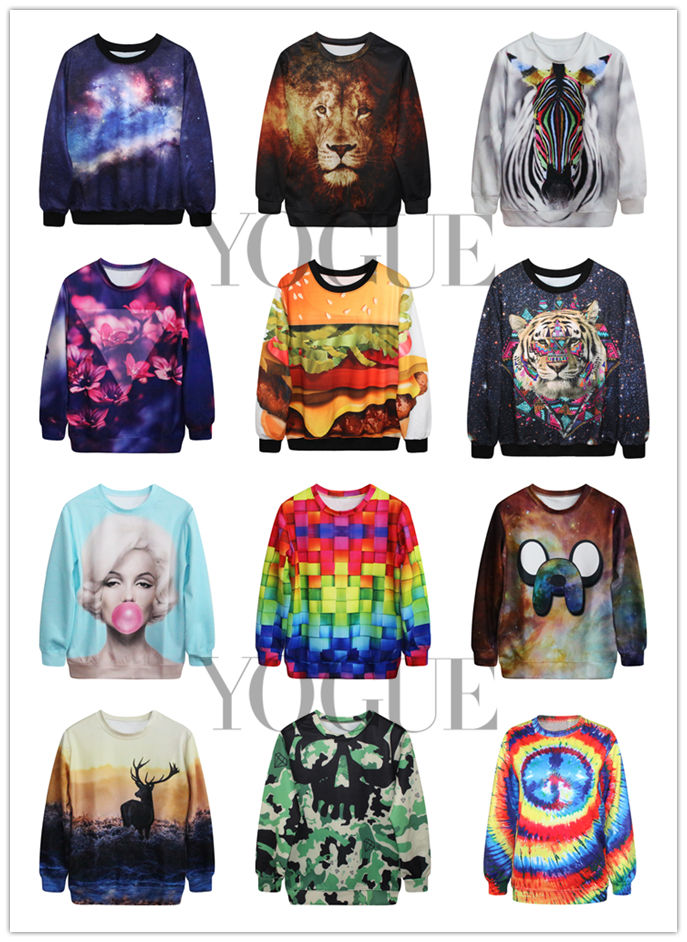 Printed Mens Womens Sweatshirt Hoodies Pullover Tops Jumpers T-shirt
