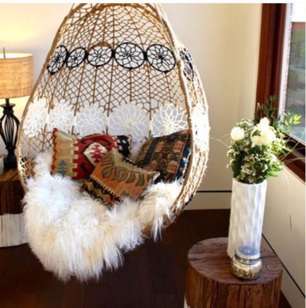 home accessory white strings boho home decor lifestyle sheepskin throw