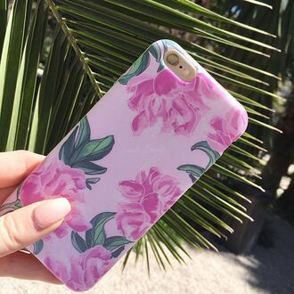 phone cover yeah bunny cover peony floral leaves pink pastel cute iphone cover iphone case iphone flowers tumblr