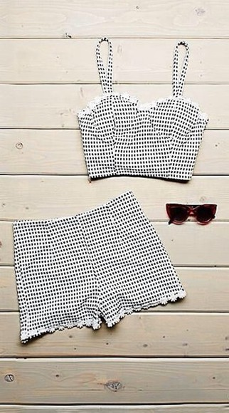 minkpink tank top pacsun black and white bustier