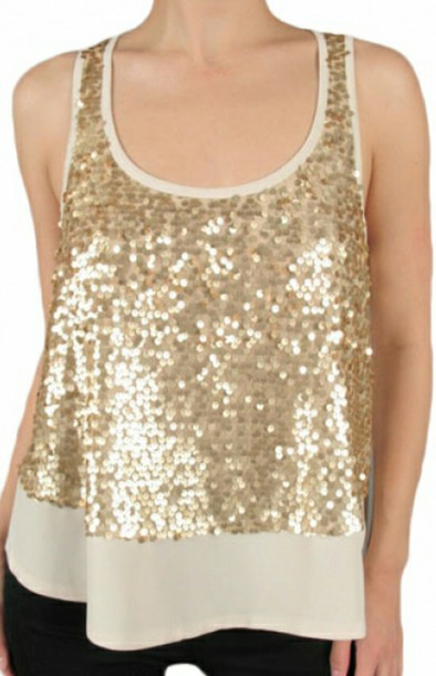 blouse sequin tank top