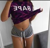 shirt,t-shirt,purple,bape,bathing ape,cute,tumblr,tumblr outfit,fashion inspo,purple t-shirt