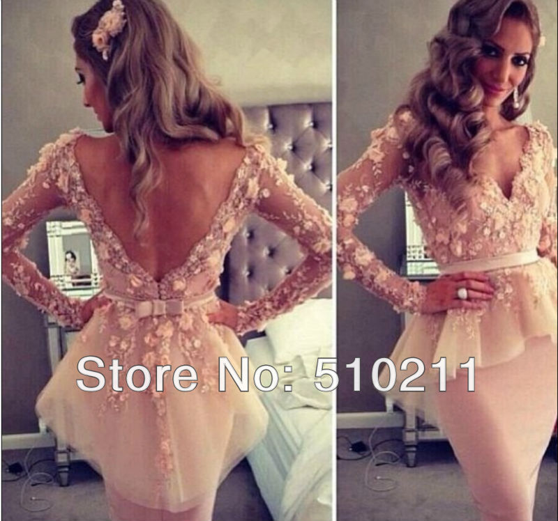 Aliexpress.com : buy myriam fares sexy vestido com decote em v manga comprida bainha comprimento do joelho tule vestidos de celebridades 2013 from reliable mini vestido sexy suppliers on parislover dresses