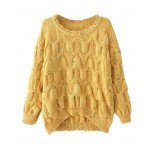 Colored round spot lace collar sweater