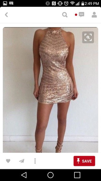 dress rose gold