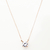 Crystal Solitaire Pendant Necklace | THEPEACHBOX
