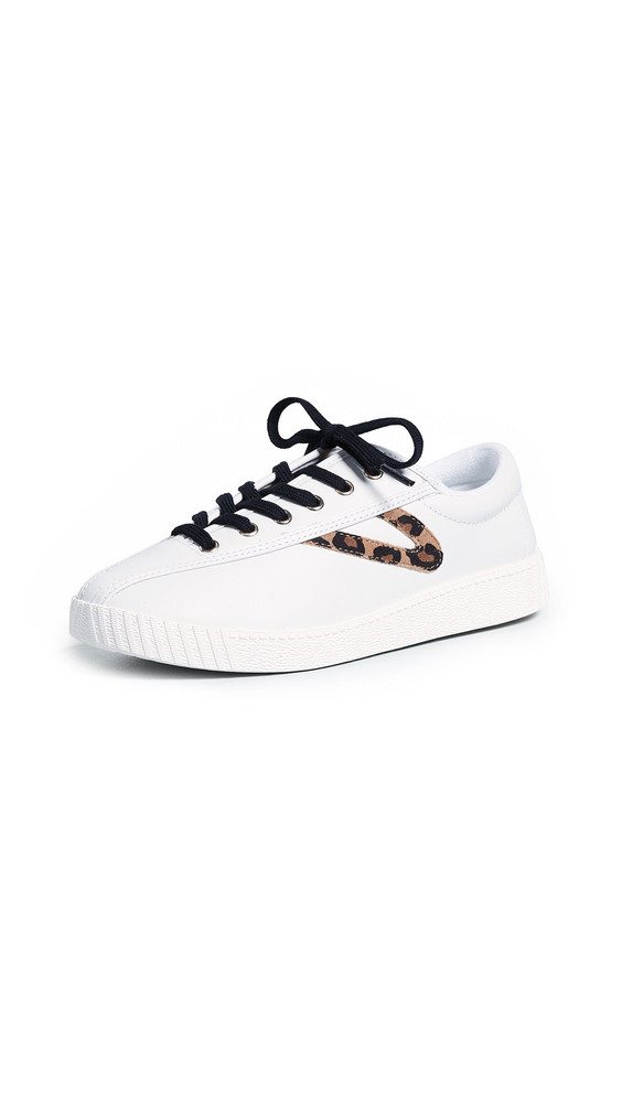 Tretorn Nylite 25 Plus Lace Up Sneakers in tan / white / multi