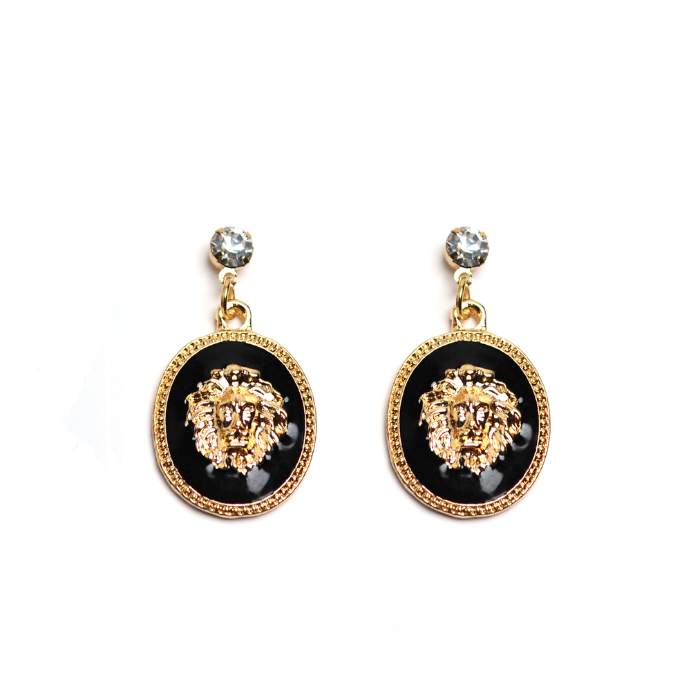 Lion Drop Earrings