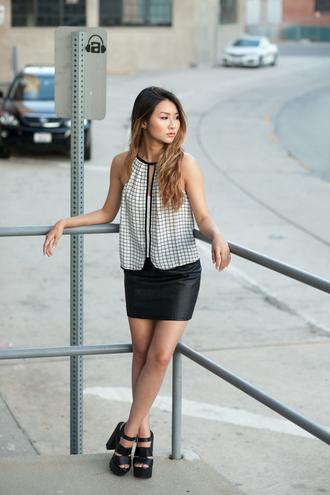 atsuna matsui atsuna matsui » blogger tank top top shoes skirt