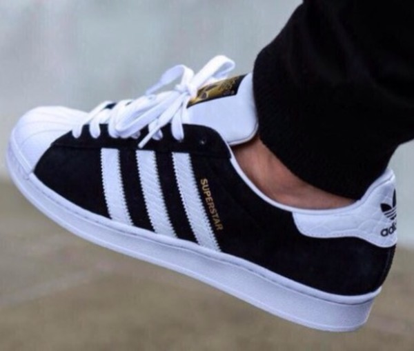 Superstar Zwart Suede