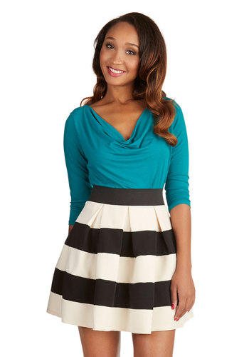 Stripe it lucky skirt in black & white