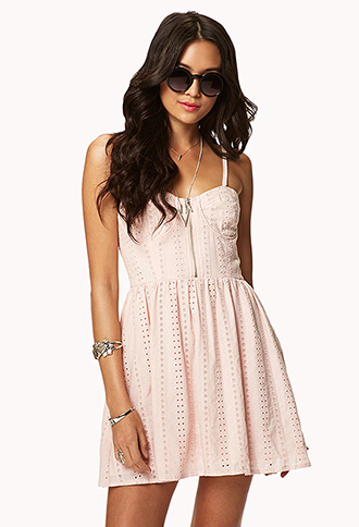 Sweetheart Eyelet Dress | FOREVER21 - 2037608529