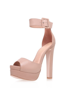 **High Heel Leather Platform Sandals by Kurt Geiger - Shoe Brands - Shoes - Topshop