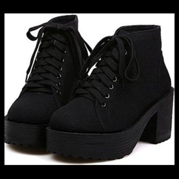 shoes plateau vintage heel dope