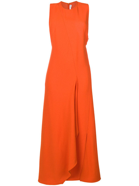 Victoria Beckham dress flare dress flare women yellow orange
