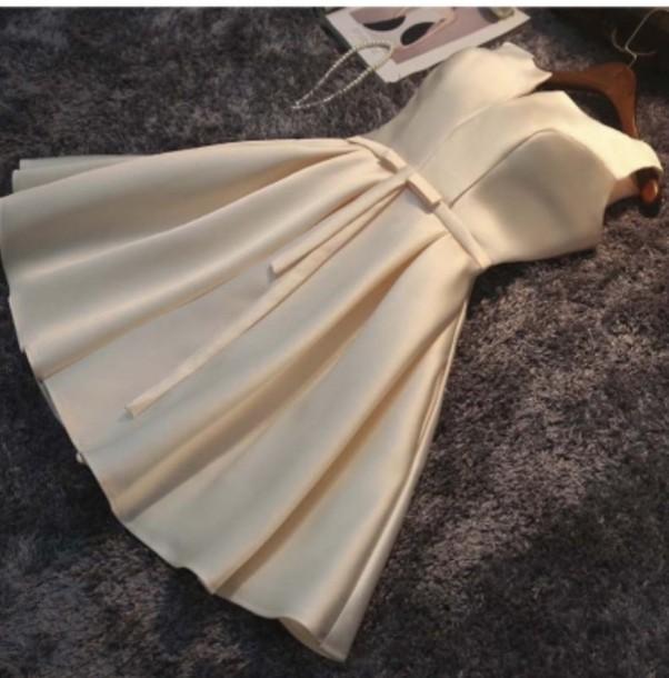 dress beige fashion party dress elegant classy style beautifulhalo