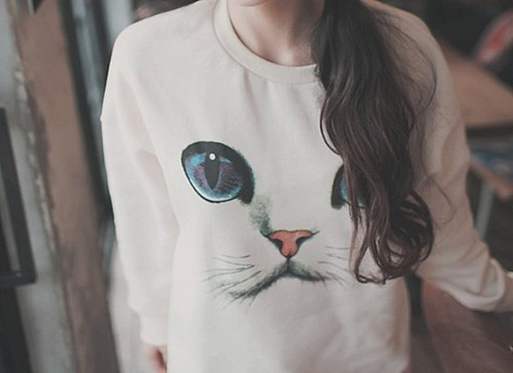cats cat sweater sweater blue eyes eyes cat face pullover