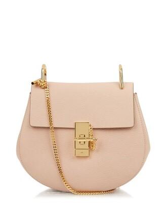 cross bag leather light pink light pink