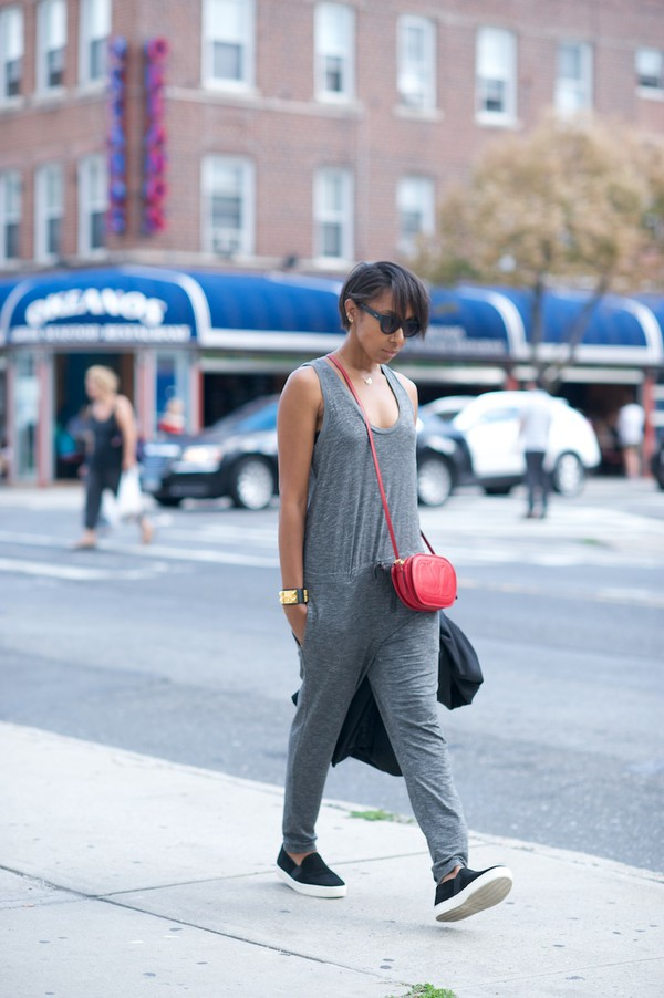 where did u get that blogger jumpsuit jacket shoes bag jewels