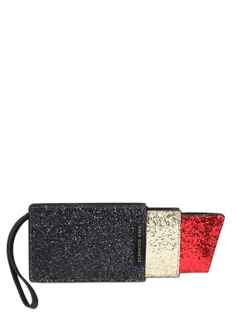 clutch black red bag