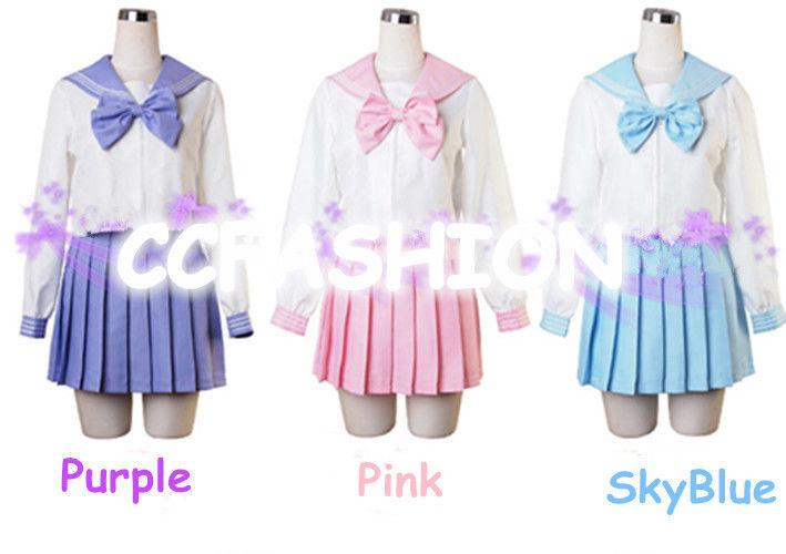 Girl Long Uniform Dress Japanese Japan School Cosplay