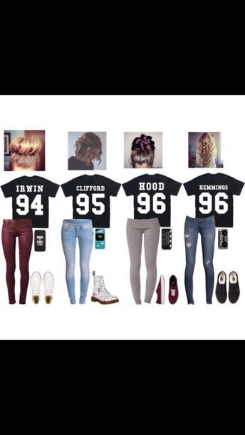 b537f8cb112 Unisex 5sos T shirts Source · 5 sos shirt 5 seconds of summer t shirt hood  96 clliford 95