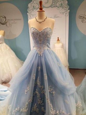 dress cinderella princess dress gown light blue ball gown dress prom dress