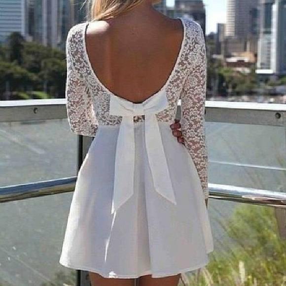 bows dress white dress girly fashion lovely pepa