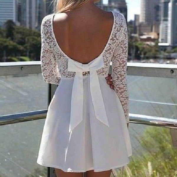 dress white dress girly fashion lovely pepa bows