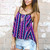Stylish Tribal Print Cami Top