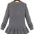 Grey Long Sleeve Cable Knit Ruffle Sweater - Sheinside.com