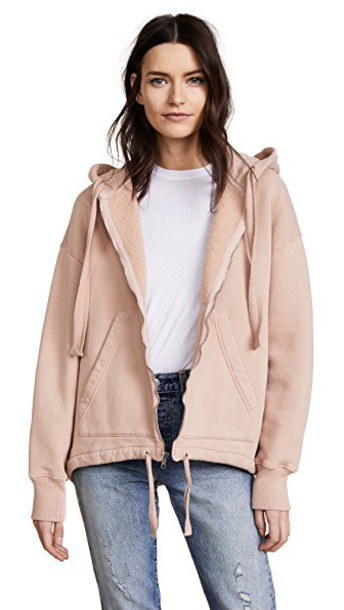 CITIZENS OF HUMANITY hoodie blush sweater