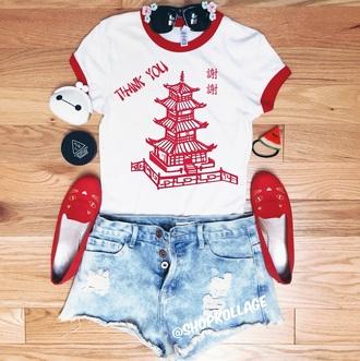shirt crop tops ringer t-shirt graphic tee t-shirt food fashion top tumblr