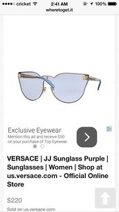 sunglasses,blue jj versace sunglasses