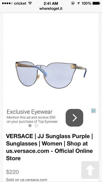 sunglasses blue jj versace sunglasses