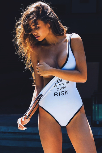 swimwear bikini monokini one piece swimsuit white swimwear