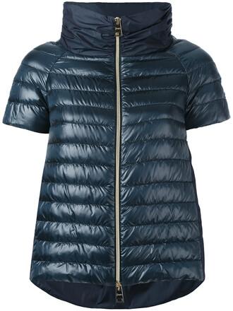 jacket puffer jacket short women blue