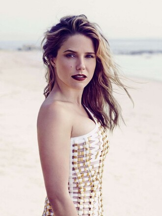 dress sophia bush one shoulder